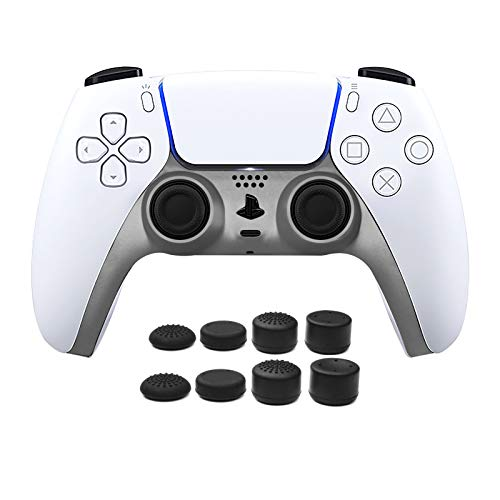 Read more about the article PS5 Controller Faceplate, Replacement Shell Clip Cover Decoration Accessories, Grip Decorative Strip for Sony Playstation 5 DualSense Controller, 8 pcs Thumb Stick Grips, 2 Pack Charcoal