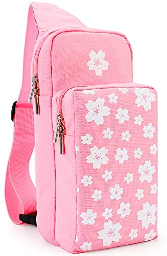 Read more about the article Owngen Cute Travel Bag for Nintendo Switch/Lite, Portable Shoulder Crossbody Sling Carrying Storage Backpack for NS Consolo, Charging Dock, Joy-Cons, Accessories, Girls, Women. (Pink Sakura)