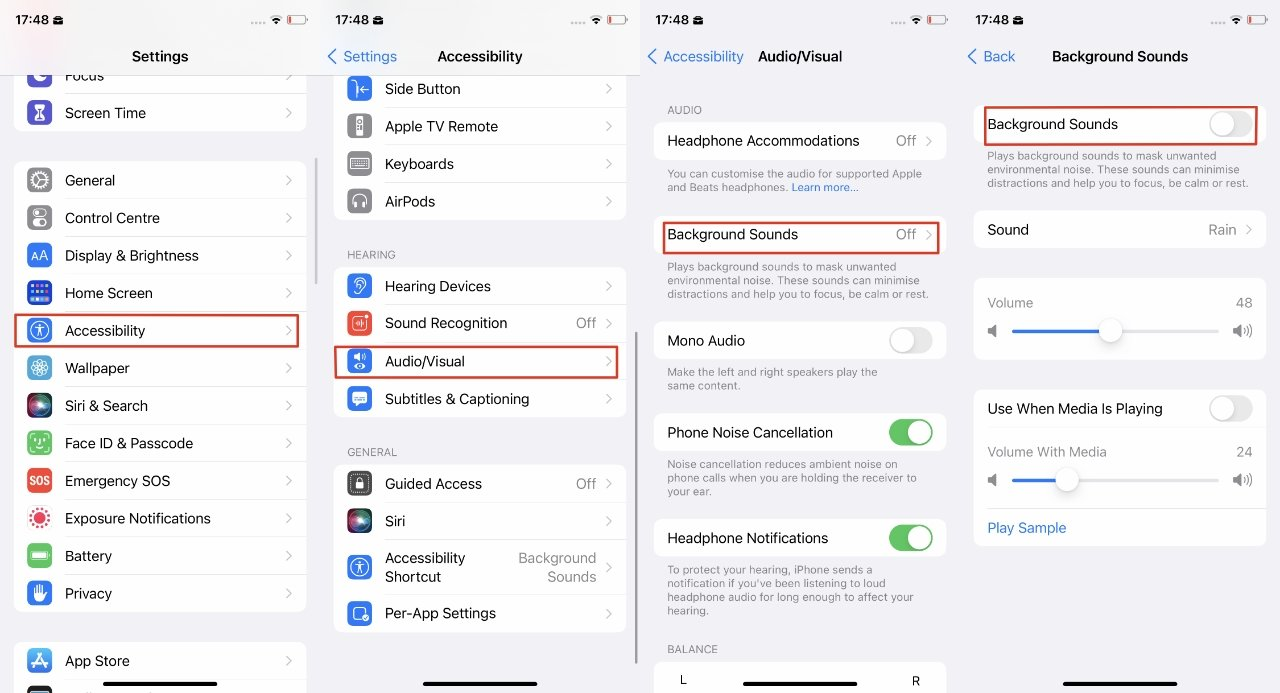 Read more about the article How to use rain, dark noise, and more background sounds in iOS 15