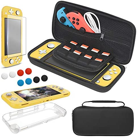 Read more about the article Carrying Case Plus TPU Case Cover and Screen Protector for Nintendo Switch Lite, 4 in 1 Accessories Kit, Portable Carrier Travel Bag Case Comes with 8 Game Card Slots for Switch Lite 2019