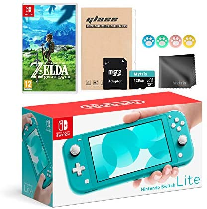 Read more about the article Switch Lite 32GB Turquoise Console, The Legend of Zelda: Breath of The Wild Game, with Mytrix Switch Accessories Kit