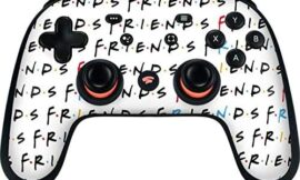 Skinit Decal Gaming Skin Compatible with Google Stadia Controller – Officially Licensed Warner Bros Friends Pattern Design