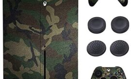 Xbox Series X Skin Stickers,Full Body Vinyl Skins Decal Protective Cover for Microsoft Xbox Series X Console Wrap Sticker and Controllers Decals with 4 Pcs Thump Grip Caps (Army Camouflage)