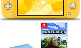Nintendo Switch Lite (Yellow) Console Bundle Includes Nintendo Minecraft Game and 6Ave Cleaning Cloth