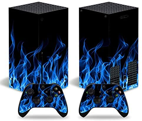 Read more about the article Xbox Series X Skins Wrap Sticker with Two Free Wireless Controller Decals, Whole Body Protective Vinyl Skin Decal Cover for Microsoft Xbox Series X Console – Blue Flame