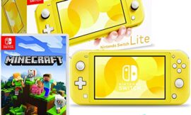 Nintendo Switch Lite (Yellow) Console Bundle with Nintendo Minecraft Game and 6Ave Cleaning Cloth