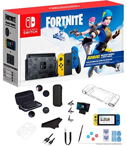 Read more about the article Newest Nintendo Switch Wildcat Bundle Fort-nite Edition 32GB Console – Yellow and Blue Joy-Con, 2000 V-Bucks, 1080p Multi-Touch Screen, WiFi, Bluetooth, HDMI and GalliumPi 12-in-1 Bundle