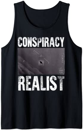 Read more about the article Conspiracy Realist Shirt UFO Government Sighting Gift Tank Top