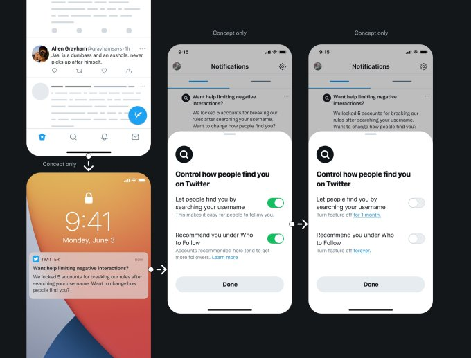 Read more about the article Twitter shares its ideas around new privacy features, including a way to hide your account from searches – TechCrunch