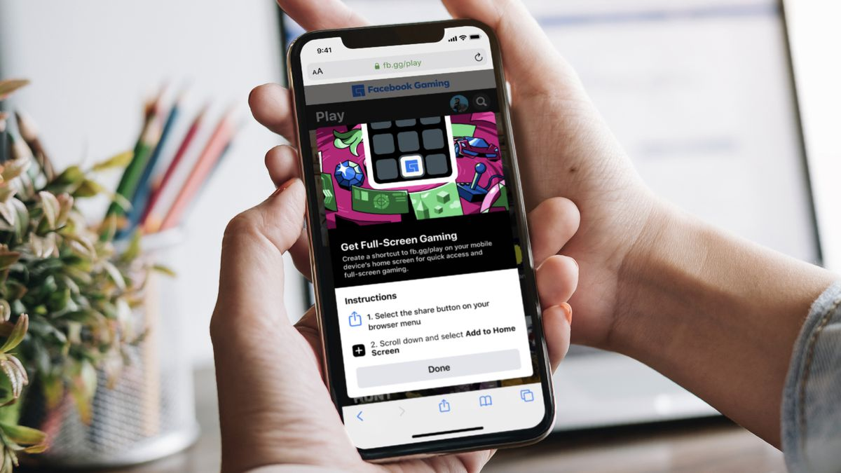 Read more about the article Facebook brings cloud games to iPhone, iPad via web app