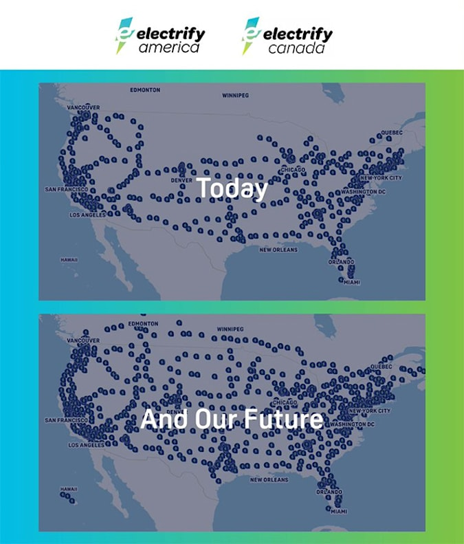 Read more about the article Electrify America plans to 'more than double' its EV charger network by late 2025
