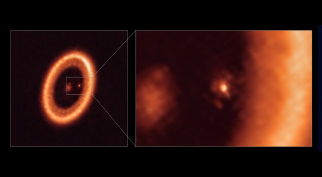 Read more about the article Astronomers Detect Moon-Forming Disc Around an Alien Planet