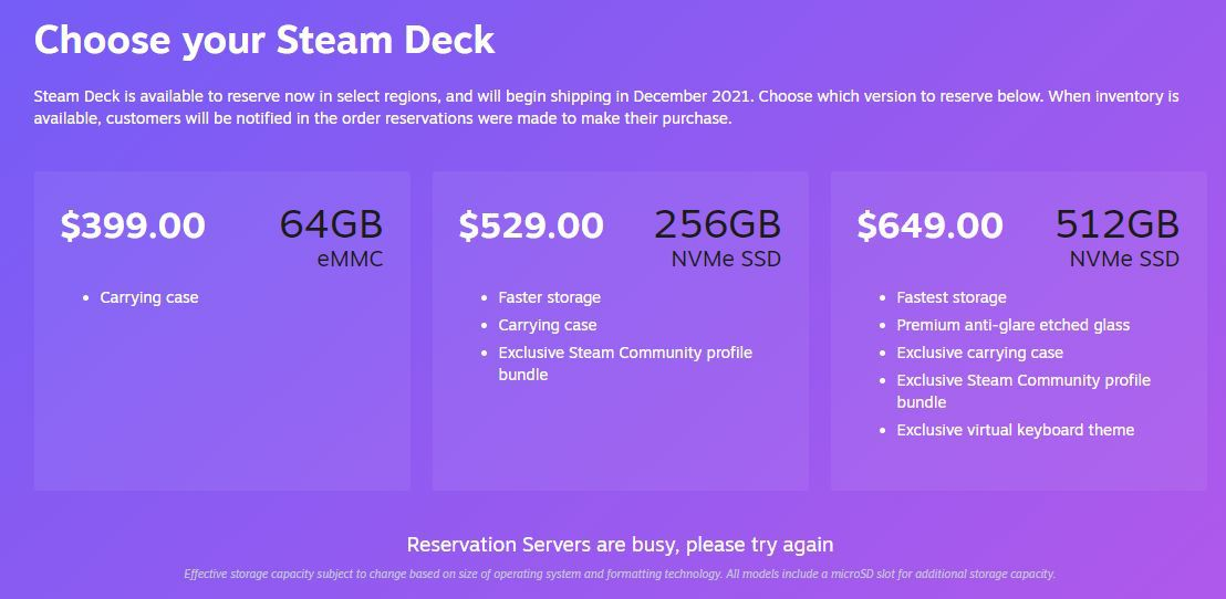 Read more about the article Steam Deck reservations crashed Steam immediately