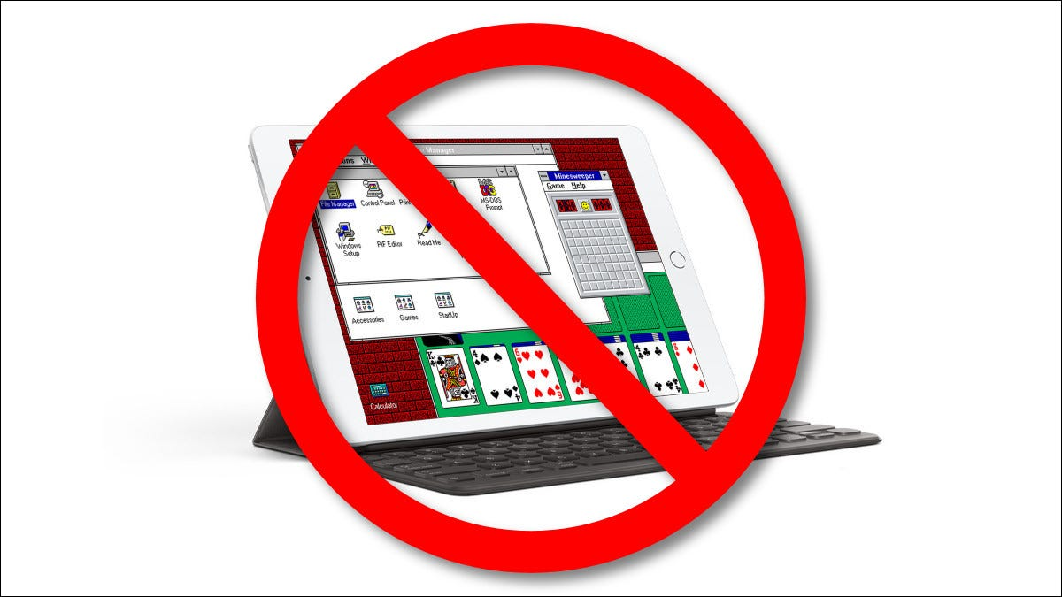 Read more about the article Apple Hates Fun, Says No More Windows 3.1 on iPads
