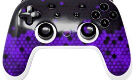 Skin Decal Wrap works with Original Google Stadia Controller HEX Purple Skin Only CONTROLLER NOT INCLUDED