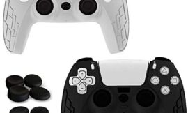 Youdepot 2 Pack PS5 Controller Skins   Sony Playstation 5 Accessories – Silicone Protector Cover Skin for Dualshock with 8 x Pro Thumb Grip Caps