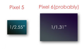 Here's how much bigger the Pixel 6's camera sensor is than the Pixel 5's