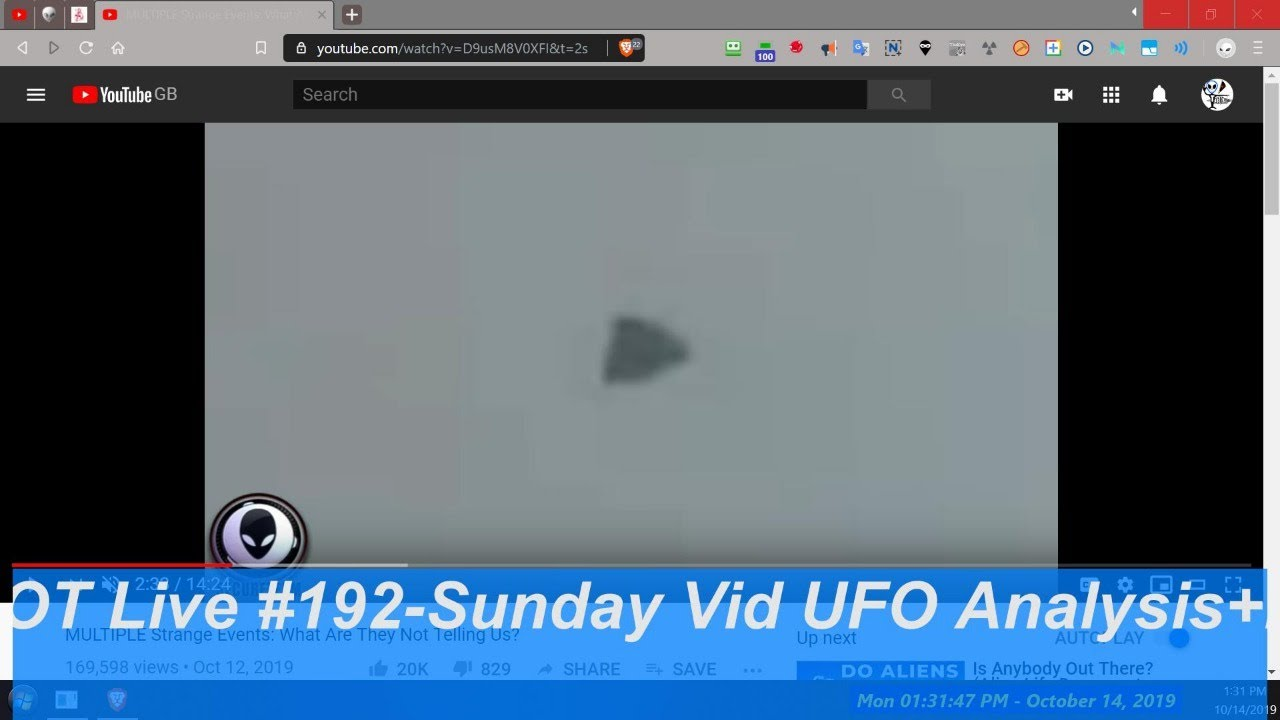 Read more about the article Sunday Live on UFO videos + Secureteam10 Vid claims and MUFON cases ) – OT Chan Live#192