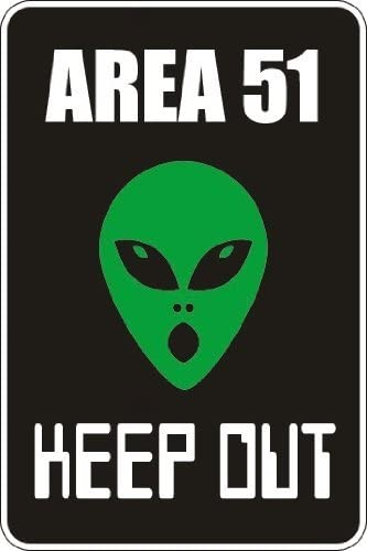 Read more about the article Cortan360 Area 51 Keep Out 8″ x 5″ Novelty Sign S007 Vinyl Retro Sticker Sign