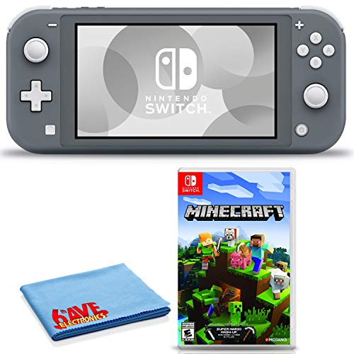Read more about the article Nintendo Switch Lite (Gray) Console Bundle Includes Nintendo Minecraft Game and 6Ave Cleaning Cloth