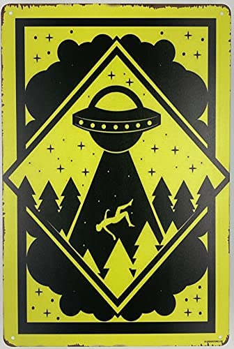 Read more about the article Forever_USA Tin Sign | Metal Wall Poster | UFO Abduction Area Warning 8 x 12 in. | Decoration Art Plaque for Business Home Bar Room Garage Man Cave | Funny Alert Style Print (Set of 1)