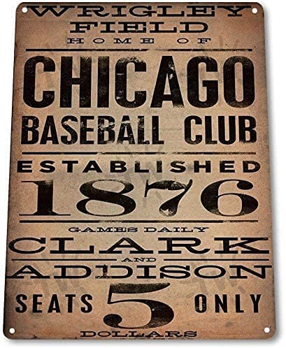 Read more about the article FemiaD 8 X 12 Novelty Funny Sign Chicago Baseball Club Vintage Metal Tin Sign Wall Sign Plaque Poster for Home Bathroom and Cafe Bar Pub, Wall Decor Car Vehicle License Plate Souvenir