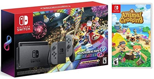 Read more about the article Nintendo Switch HAC 001 with Gray Joy-Con + Mario Kart 8 Deluxe (Full Game Download) & Animal Crossing: New Horizons (Disc) Game Bundle