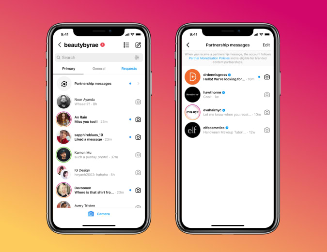 Read more about the article Instagram is testing tools to make it easier for creators to find sponsors
