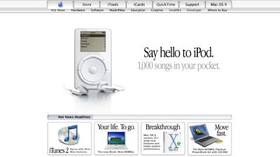 Read more about the article Today Marks the 20th Anniversary of Steve Jobs Introducing the iPod