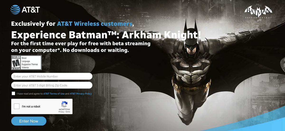 Read more about the article AT&T is white-labeling Google Stadia to give you free Batman game streaming
